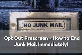 "Client Done4U Article: How to Get Rid of ""You Are Pre-Approved"" Phone Calls & Junk Mail Using Pre-Screened Opt Out!"